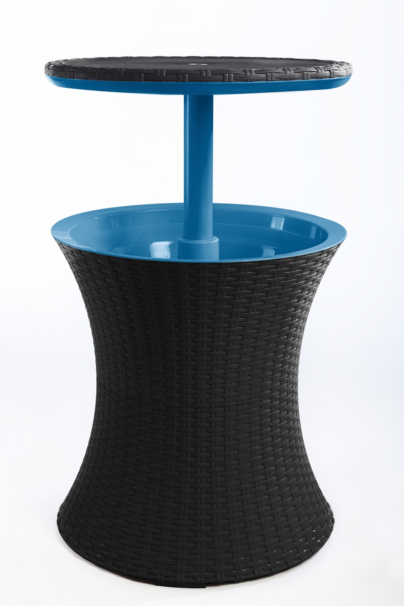 Keter Cool Bar Rattan BrownIce Blue Maze