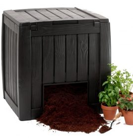 340lt Wood Look Composter