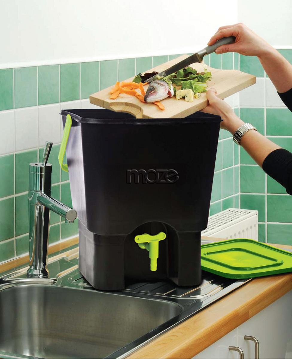 maze indoor composter bokashi kitchen composter. Black Bedroom Furniture Sets. Home Design Ideas
