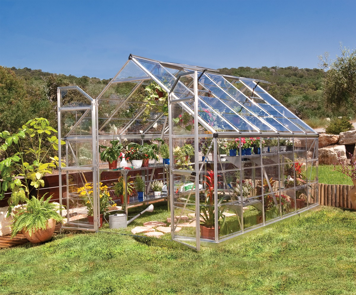 8ft x 12ft silver frame greenhouse maze products