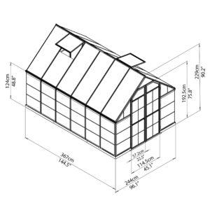 8' x 12' Green Frame Greenhouse