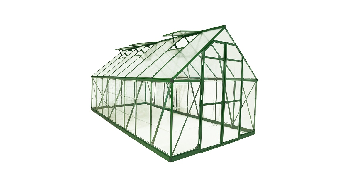 8\' x 16\' Green Frame Greenhouse | Maze Products