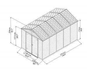 Maze 8' x 12' Skylight Shed