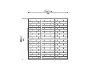 Maze 8' x 8' Skylight Shed